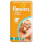 Plenky PAMPERS Sleep&Play 3 (5-9 kg) 58 ks